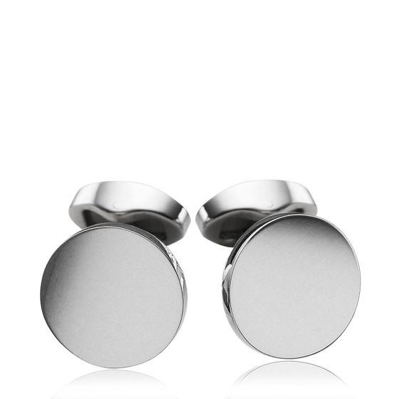 Round-Silver-Cufflinks
