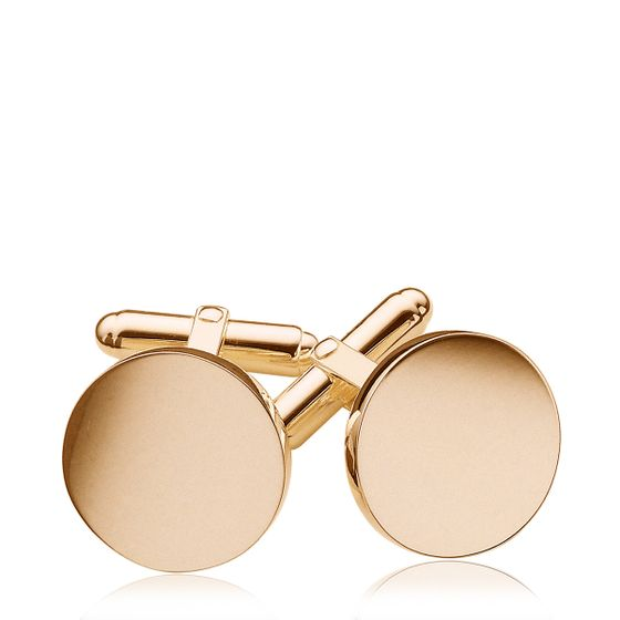 Round-Cufflinks-Gold-Plate-Base