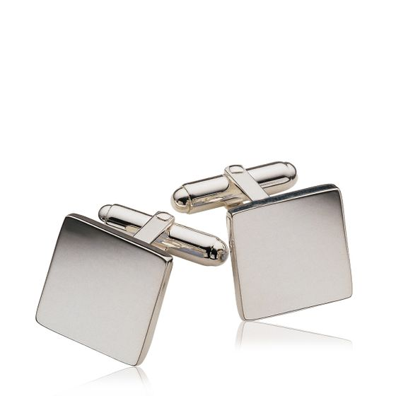 Square-Cufflinks-Silver-Plate-Base