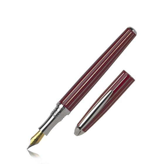 Johnson-And-Boswell-Fountain-Pen-Fuchsia-Lacquer-Base
