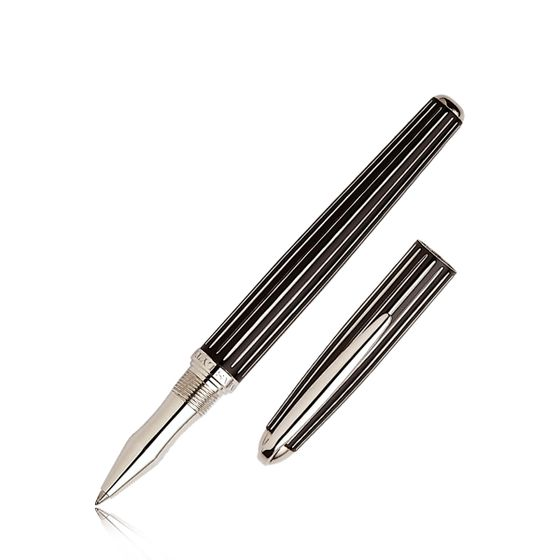 Johnson-And-Boswell-Rollerball-Pen-Black-Lacquer-Base
