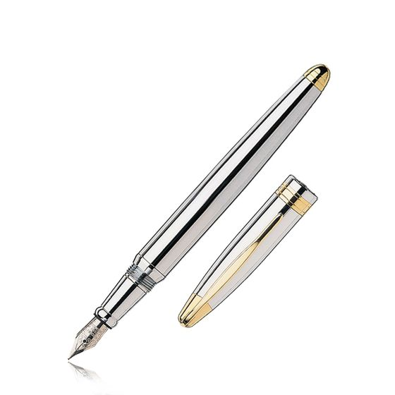 Classic-Collection-Fountain-Pen-Silver-Plate-Base