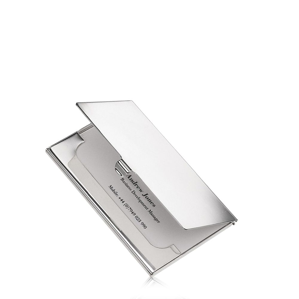 Silver Plated Business Card Case | Personalised Gift - Thomas Lyte