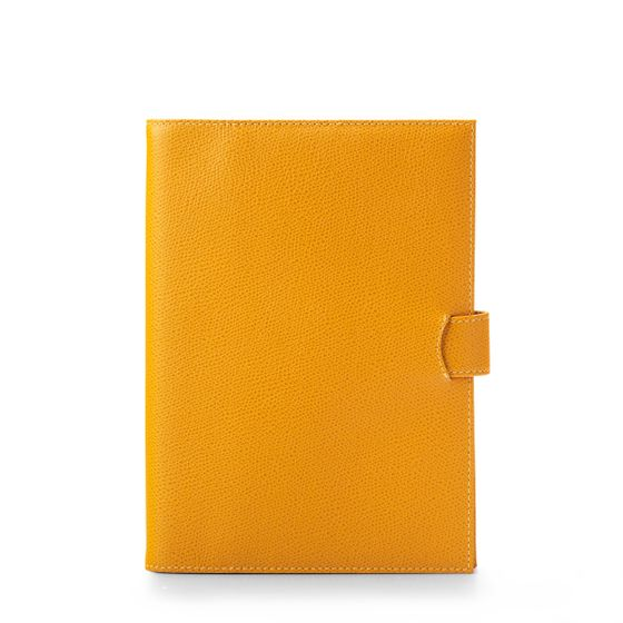 A5-Removable-Journal-Grained-Leather-Mustard-Front-Base-1