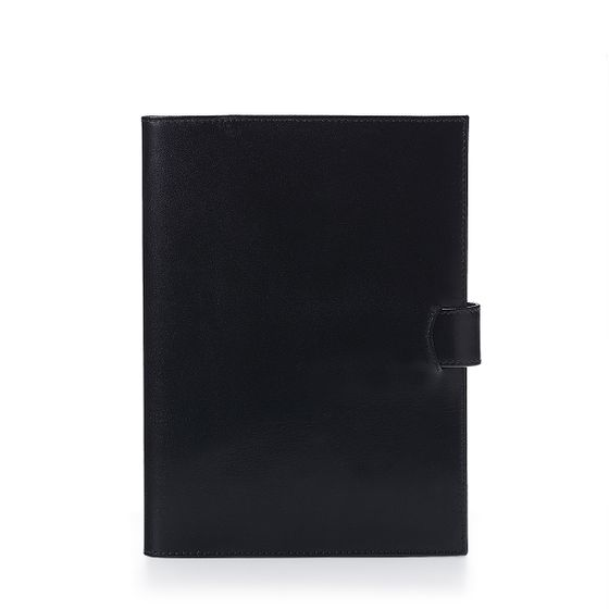 A5-Removable-Journal-Bridle-Leather-Black-Front-Base