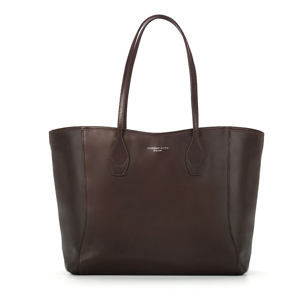 5099ace597b2 Olivia Tote Bag Smooth Leather Chocolate
