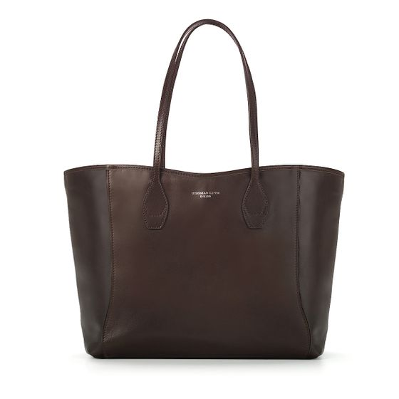 Olivia-Shopper-Tote-Chocolate-Bridle-Front-Base
