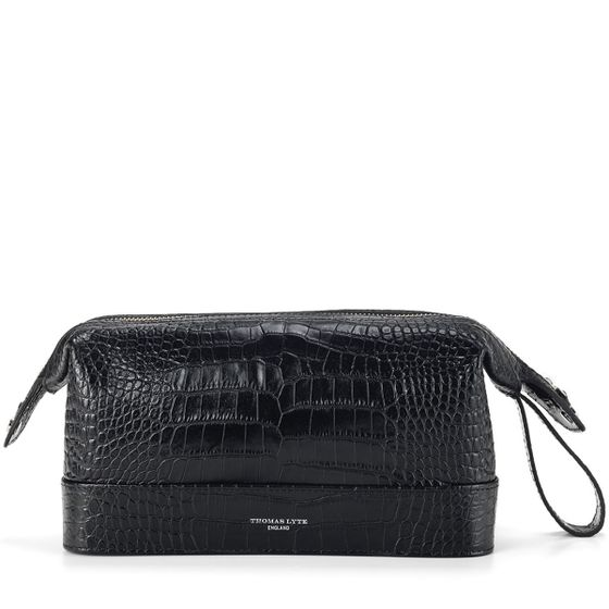 Washbag-Croc-Black-Front-Base-1