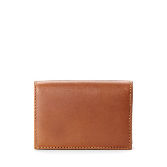 Business-Card-Case-Bridle-Leather-Tan-Front-Base