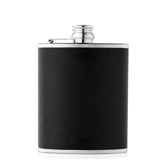 Hip-Flask-Bridle-Leather-Black-Front-Base