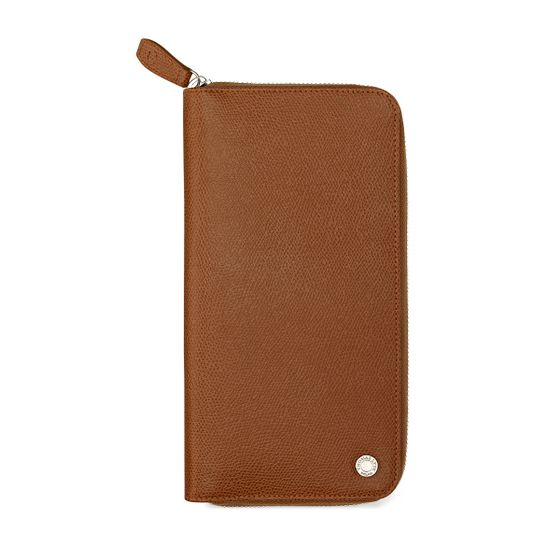 Zip-Around-Travel-Wallet-Grained-Leather-Cognac-Front-Base