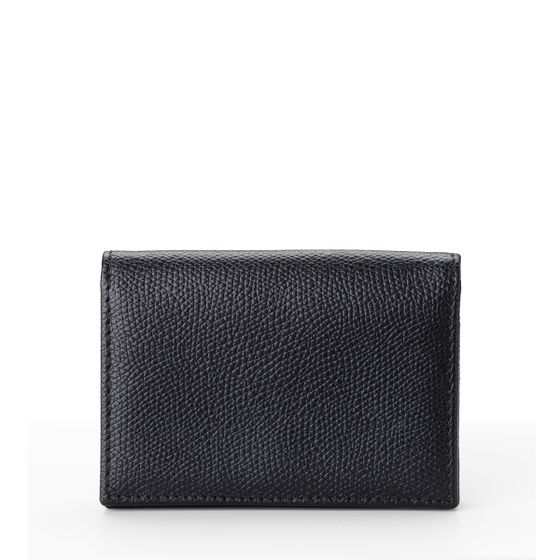 Folding-Card-Wallet-Grained-Leather-Black-Front-Base
