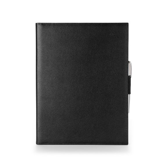 A4-Folio-Grained-Leather-Black-Front-Base