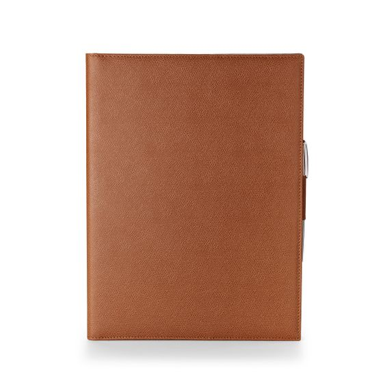 A4-Folio-Grained-Leather-Cognac-Front-Base