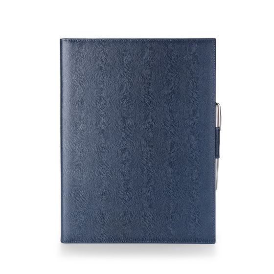 A4-Folio-Grained-Leather-Petrol-Front-Base