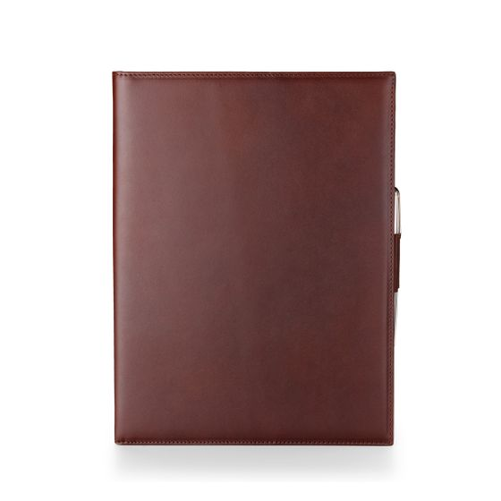 A4-Folio-Bridle-Leather-Chocolate-Front-Base