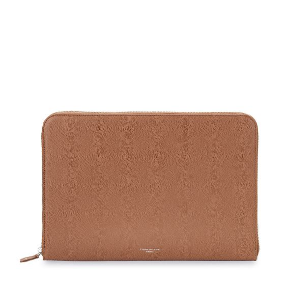 Zip-Around-Folio-Grained-Leather-Cognac-Base