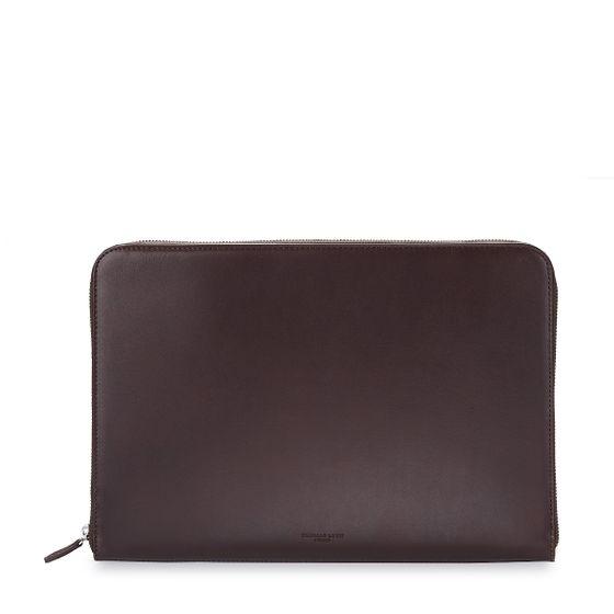 Zip-Around-Folio-Bridle-Leather-Chocolate-Base