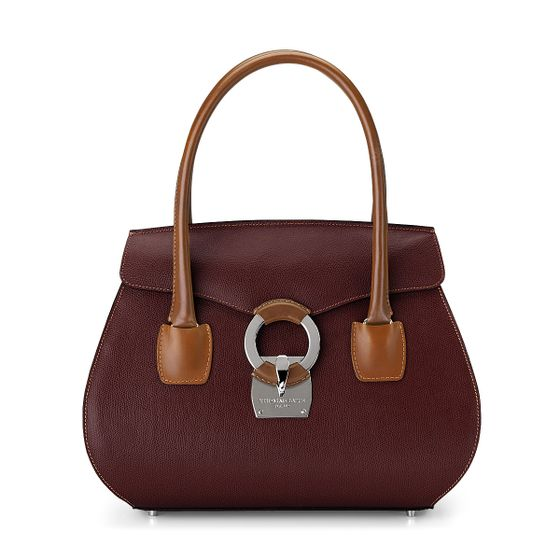 Eliza-Handbag-Grained-Leather-Plum-Front-Base