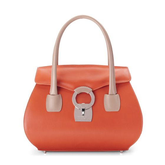 Eliza-Handbag-Bridle-Leather-Tangerine-Front-Base