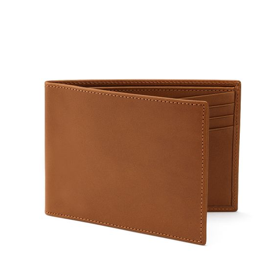 Classic-Billfold-Wallet-Bridle-Leather-Tan-3-4-Base