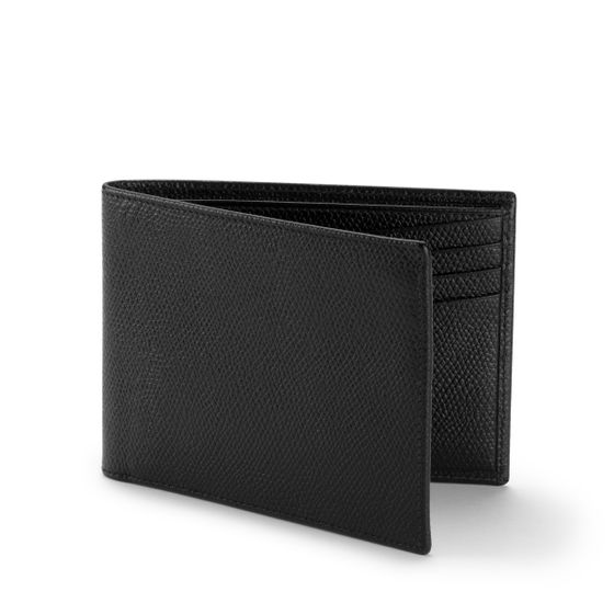 Classic-Billfold-Wallet-Grained-Leather-Black-3-4-Base2