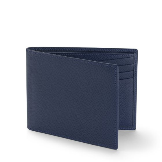 Classic-Billfold-Wallet-Grained-Leather-Petrol-3-4-Base