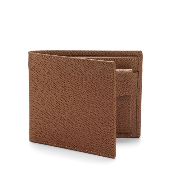 Classic-Billfold-Wallet-With-Coin-Pocket-Grained-Leather-Cognac-3-4-Base