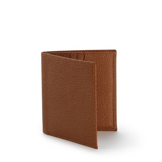 Slim-Billfold-Wallet-Grained-Leather-Cognac-3-4-Base-1