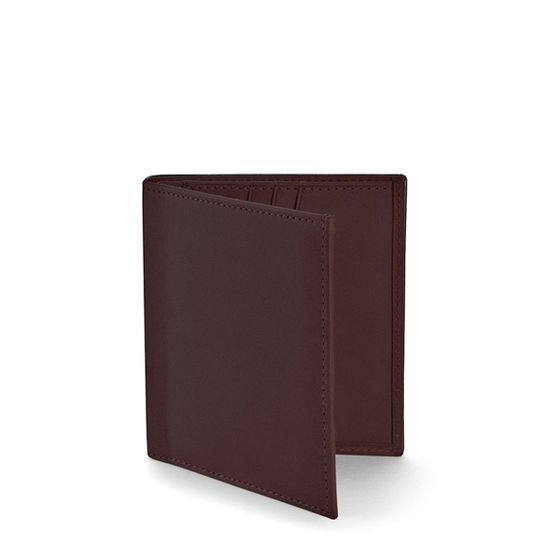 Slim-Billfold-Wallet-Bridle-Leather-Chocolate-3-4-Base-1-1