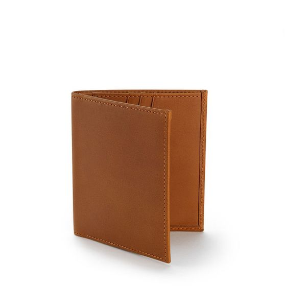 Slim-Billfold-Wallet-Bridle-Leather-Tan-3-4-Base-1