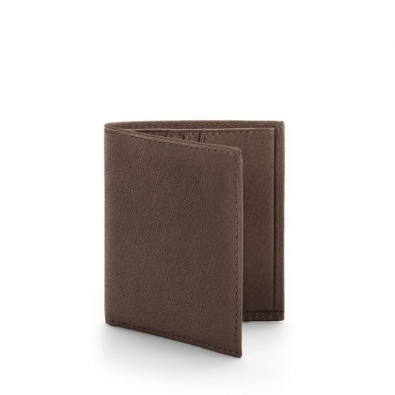 Slim-Billfold-Wallet-Natural-Leather-Choc-3-4-Base