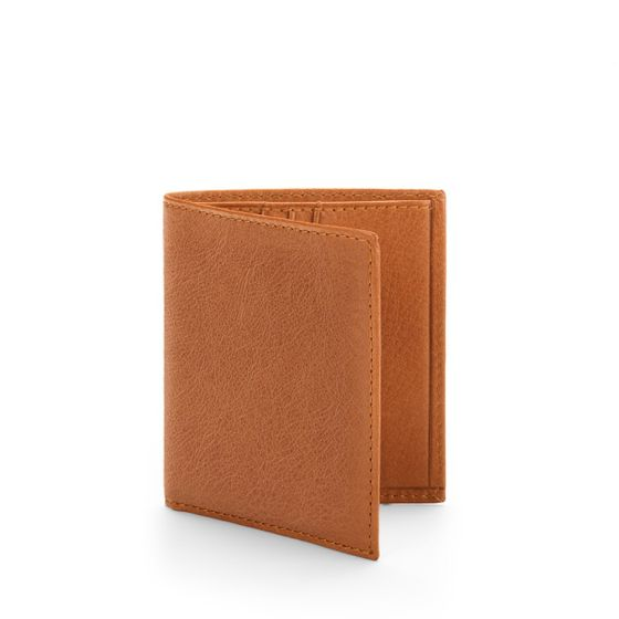 Slim-Billfold-Wallet-Natural-Leather-Tan-3-4-Base-1