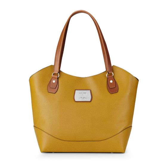 Kitty-Tote-Grained-Leather-Mustard-Front-Base