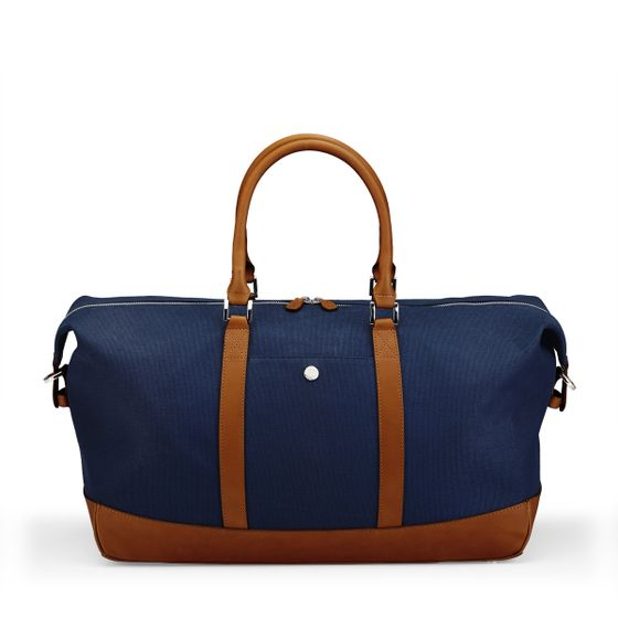 Albemarle-Clipper-Holdall-Bag-Canvas-Leather-Petrol-Front-Base
