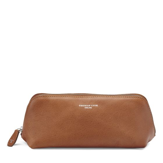 Cosmetic-Pencil-Case-Natural-Leather-Tan-Front-Base