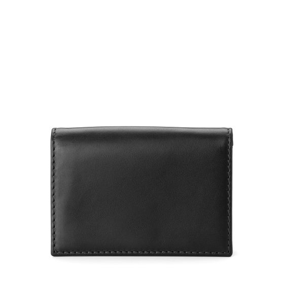 Folding-Card-Wallet-Bridle-Leather-Black-Front-Base