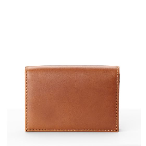 Folding-Card-Wallet-Bridle-Leather-Tan-Front-Base