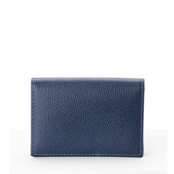 Folding-Card-Wallet-Grained-Leather-Petrol-Front-Base