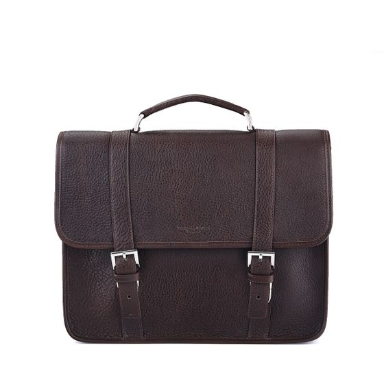 Albemarle-Satchel-Natural-Leather-Chocolate-Front-Base