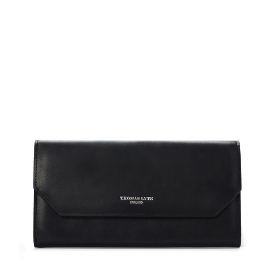 Continental-Purse-Calf-Leather-Black-Front-Base