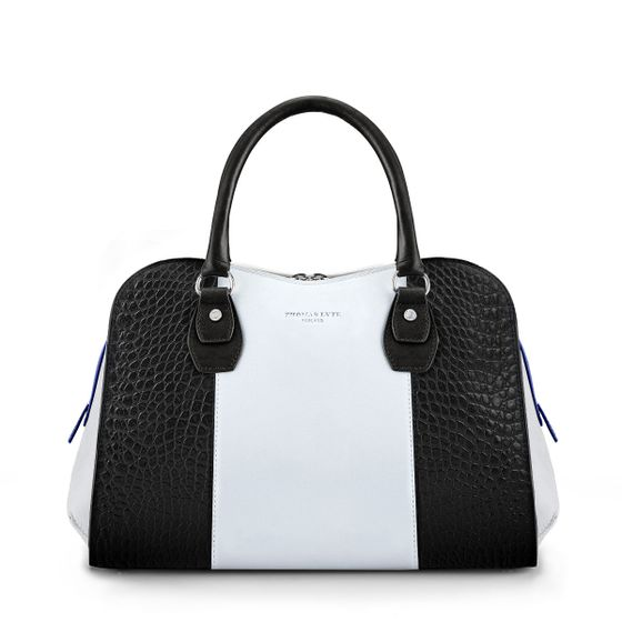 Danvers-Bowling-Bag-Croc-Leather-Monochrome-Front-Base