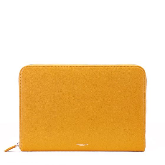 Ziparound-Folio-Grained-Mustard-Front-Base