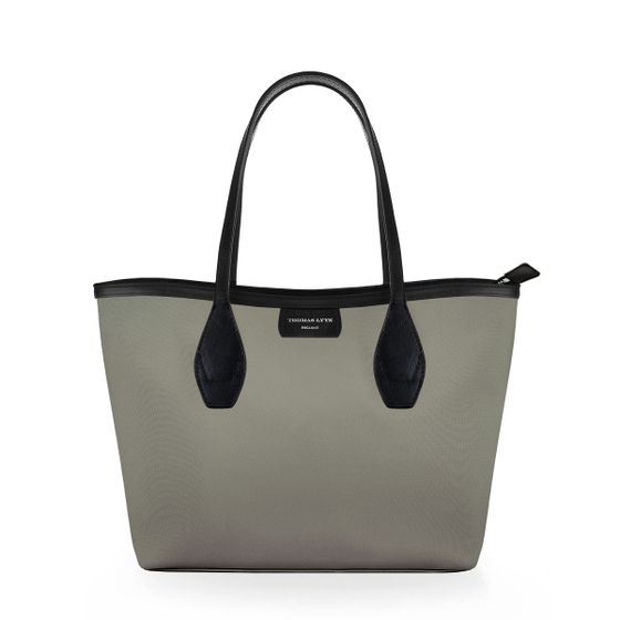 Lottie-Tote-Nylon-Grey-W-Zip