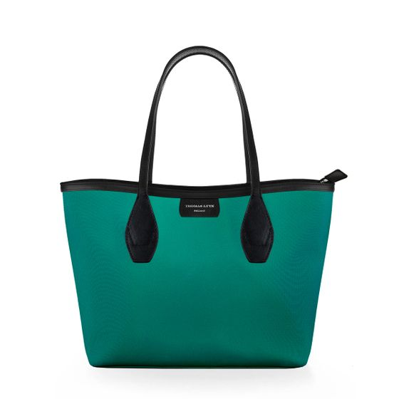 Lottie-Tote-Nylon-Emerald-W-Zip