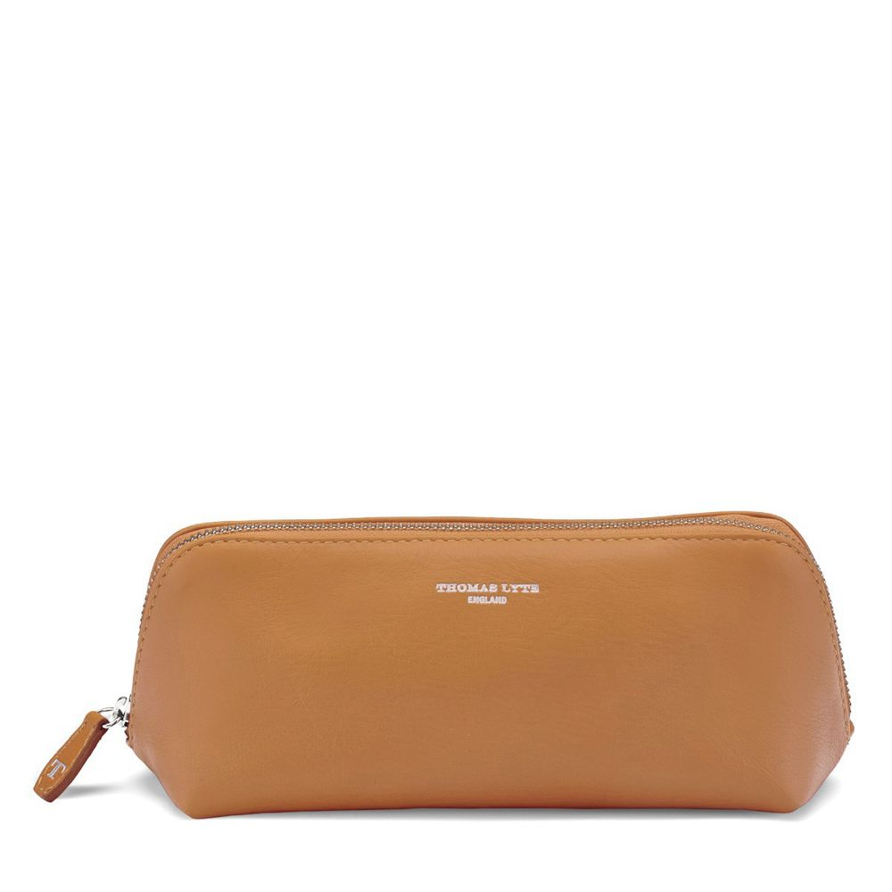 a460ce900c5a Cosmetics Pencil Case Smooth Leather Tan   Accessories - Thomas Lyte