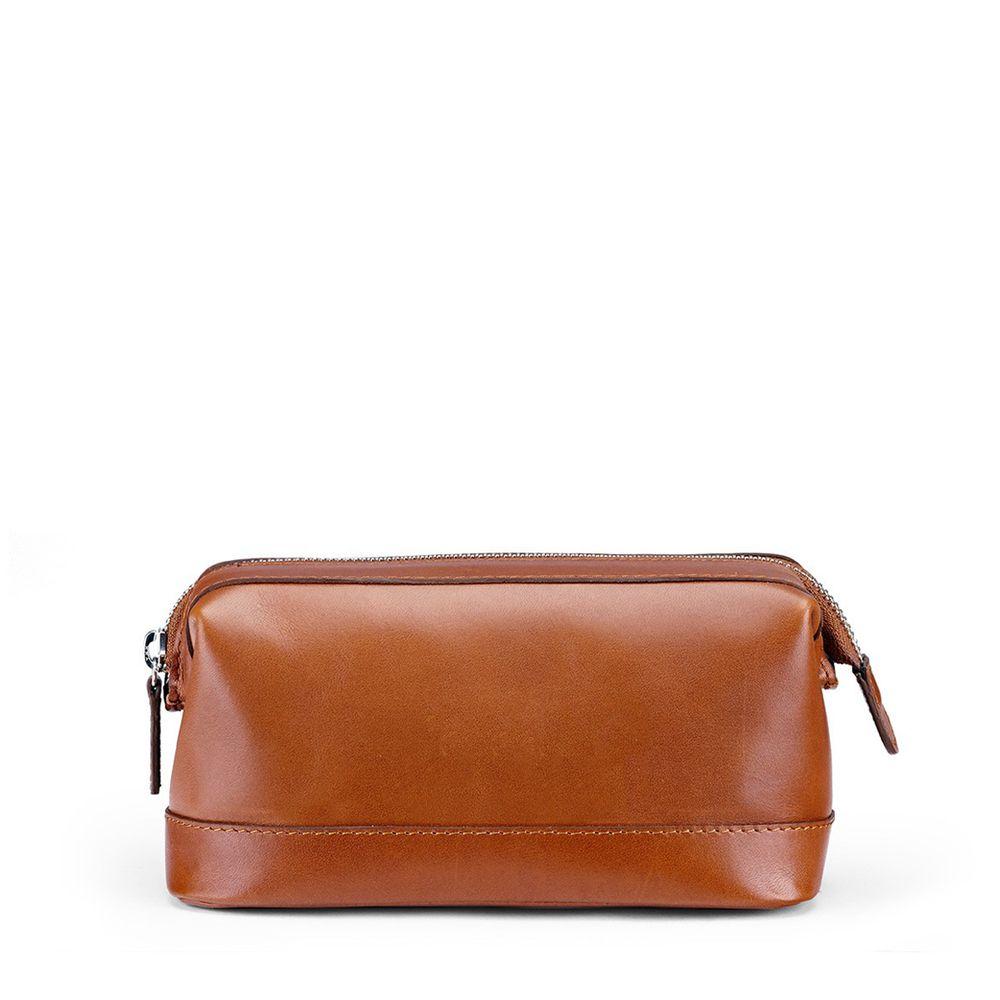 5354fde4dd Small Wash Bag Smooth Leather Tan