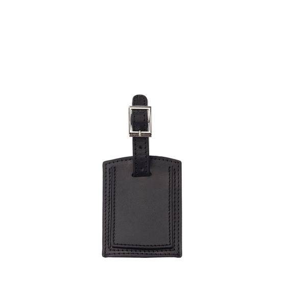 Luggage-Tag-Small-Black-Smooth-Front-Base