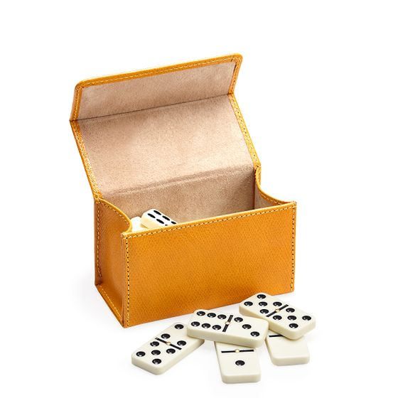 Domino-Set-Grained-Leather-Mustard-Side-Base