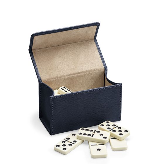 Domino-Set-Grained-Leather-Petrol-Side-Open-Base